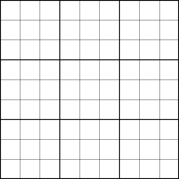 6 Images of Printable Sudoku Puzzles 9X9