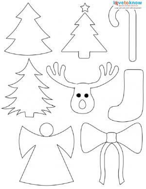 6 Images of Christmas Cutouts Free Printables