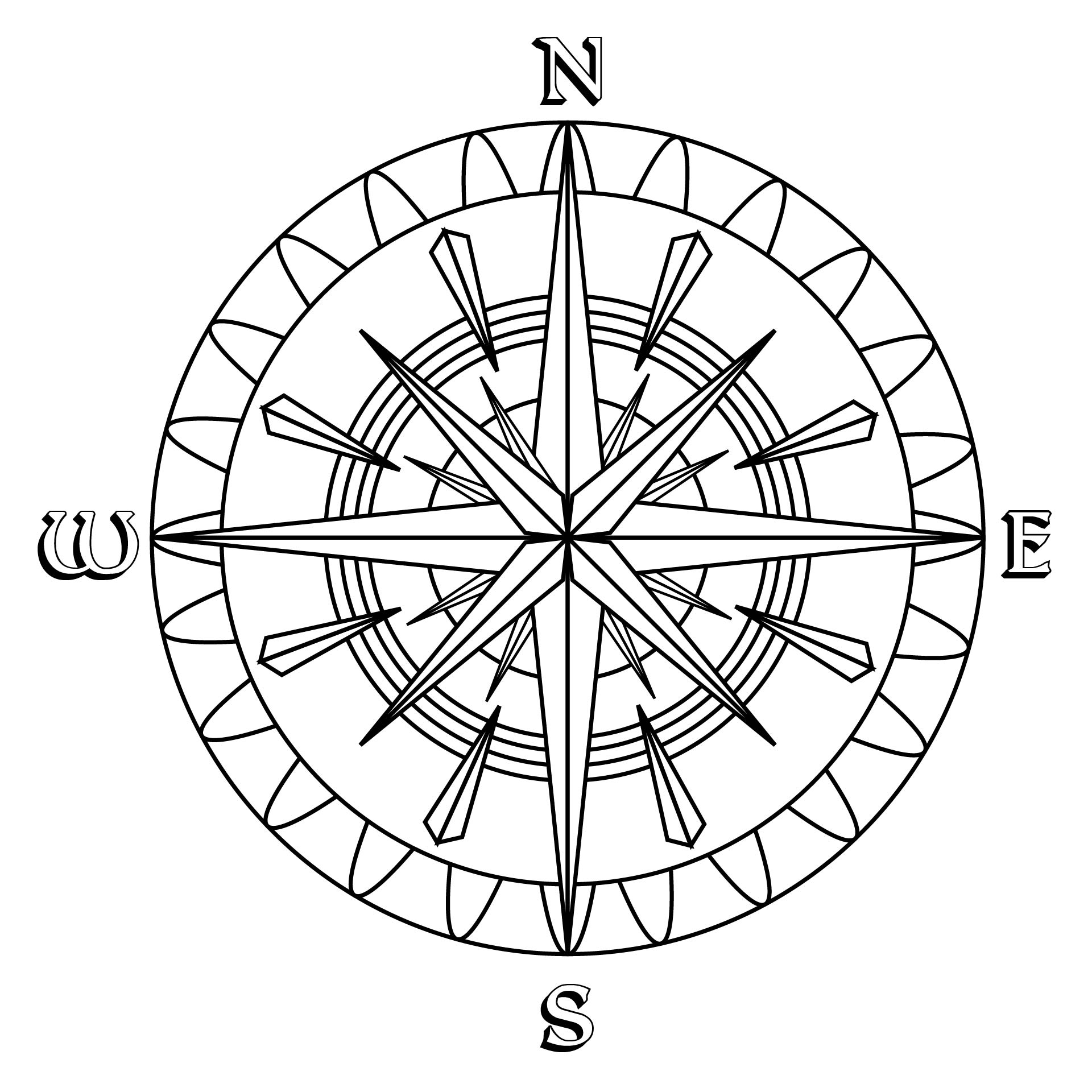 7 Images of Free Printable Compass