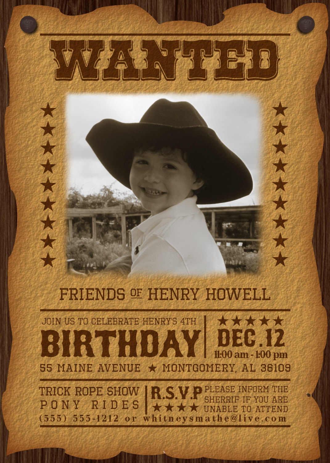 6 best images of free printable western wanted invitations