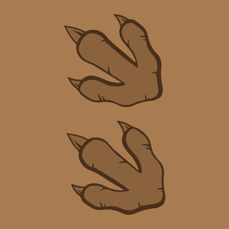 Dinosaur Footprint Template Printable