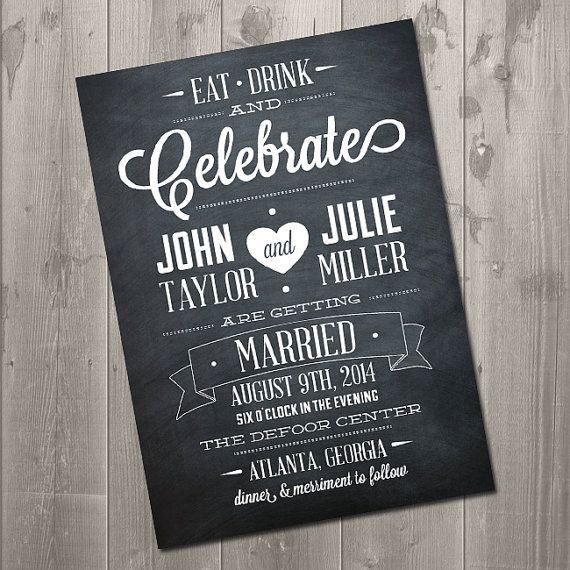 8 Images of Chalkboard Printable Invitation
