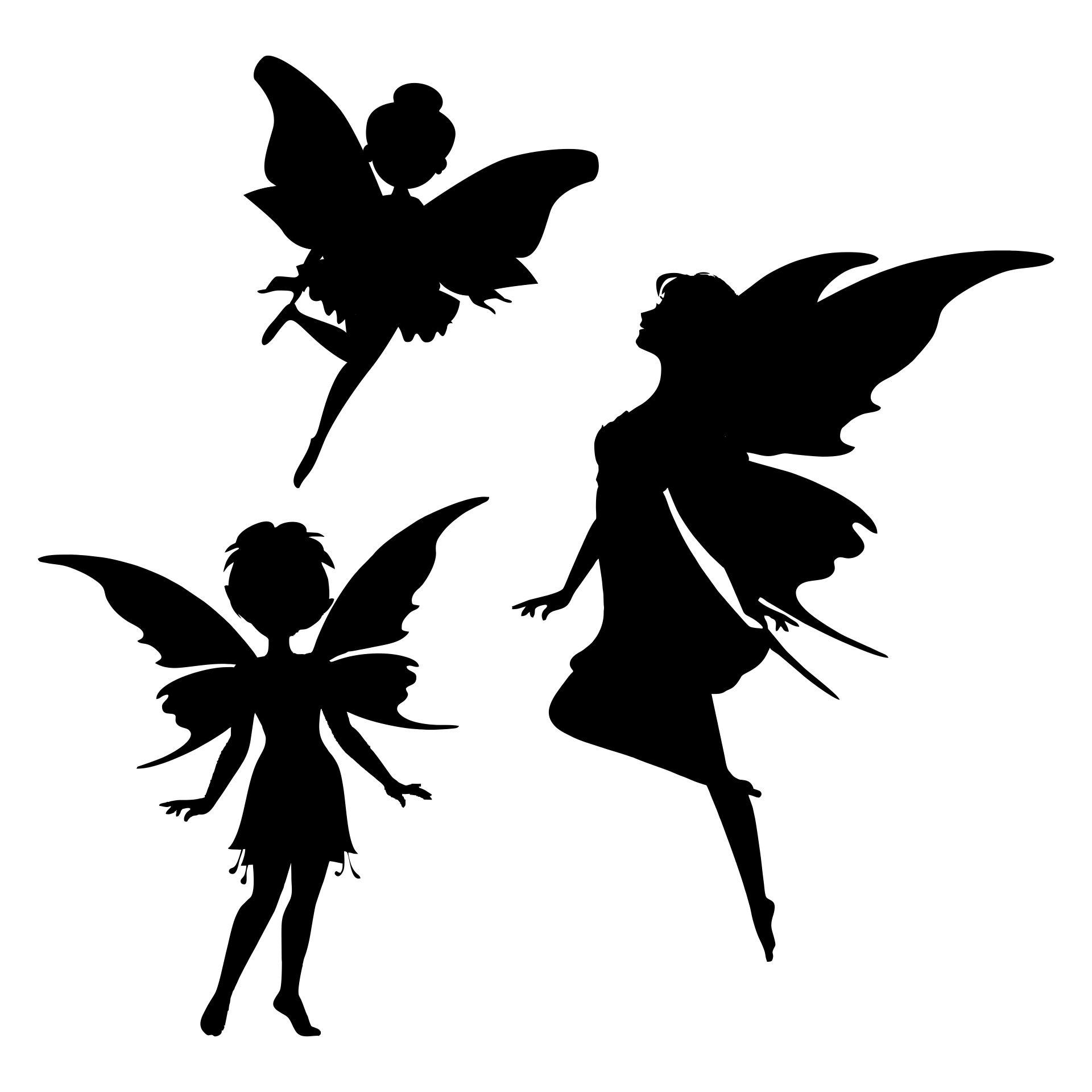 Fairy Silhouette Vector Art