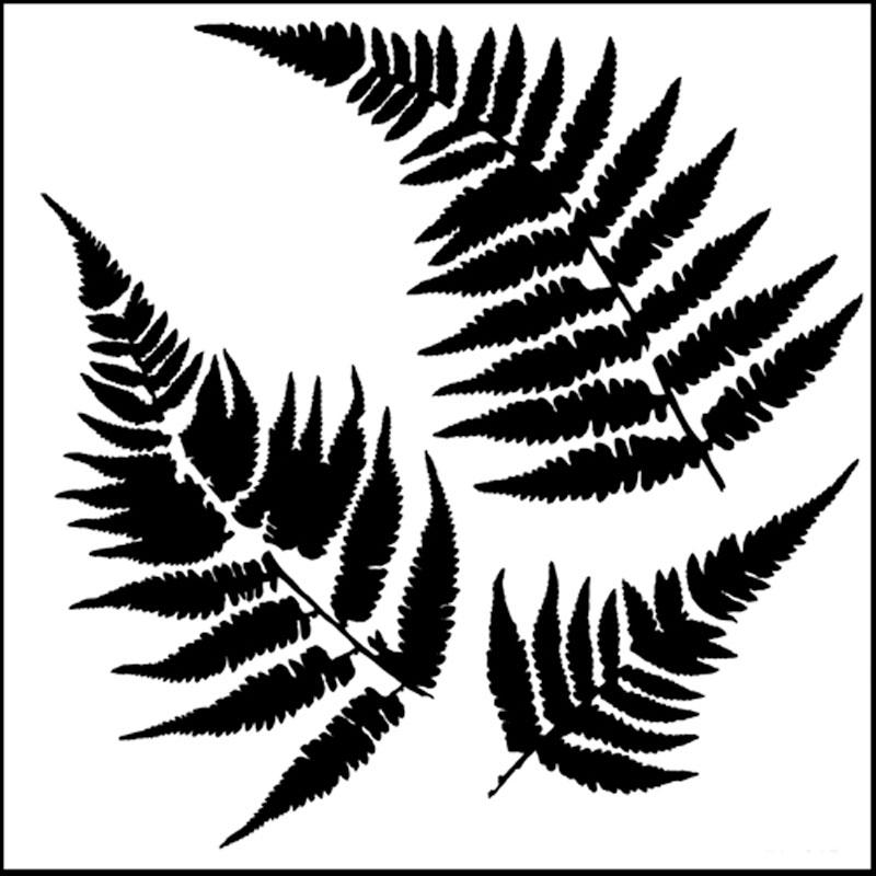 5 Images of Fern Leaf Stencils Printable