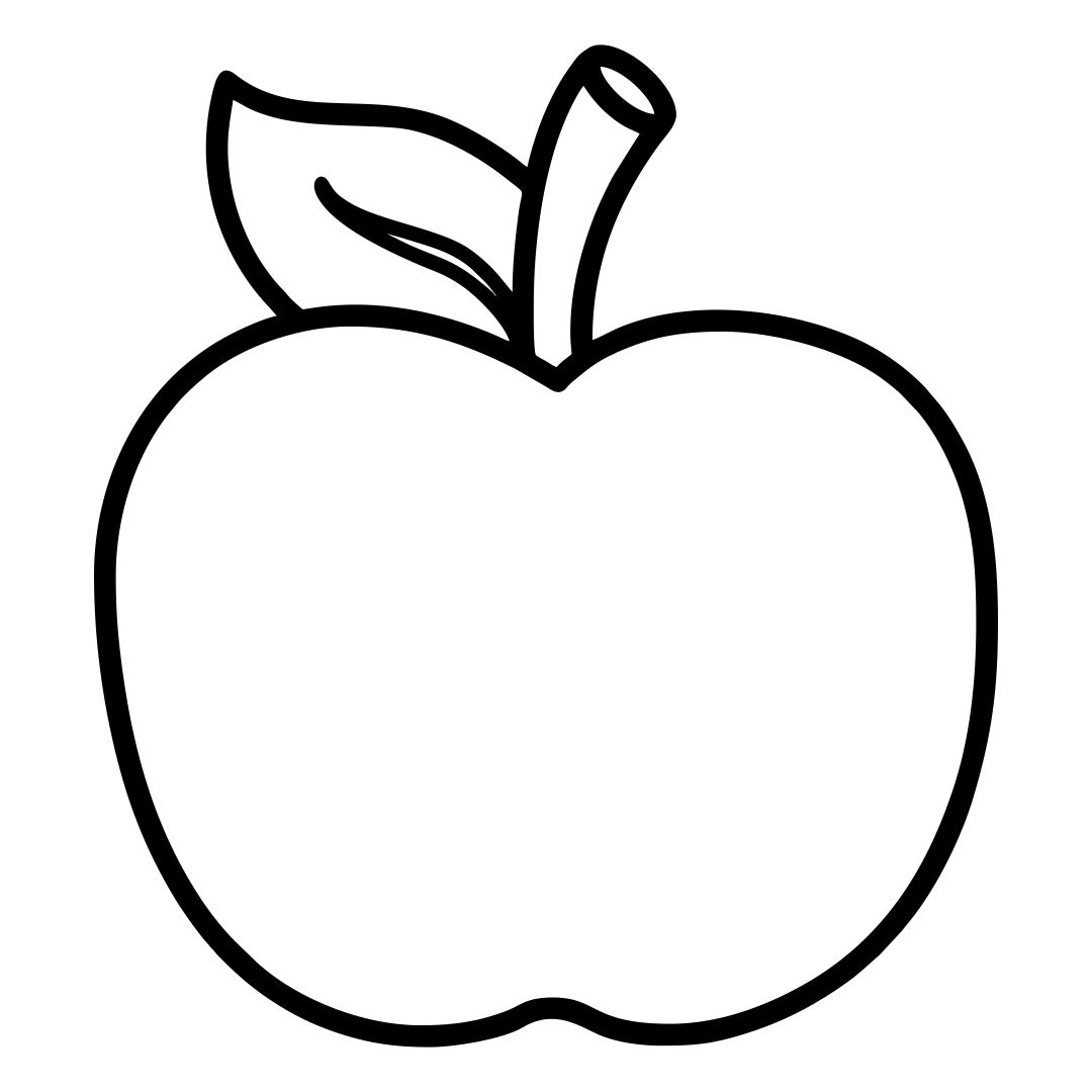 7 Images of Printable Apple Template Preschool