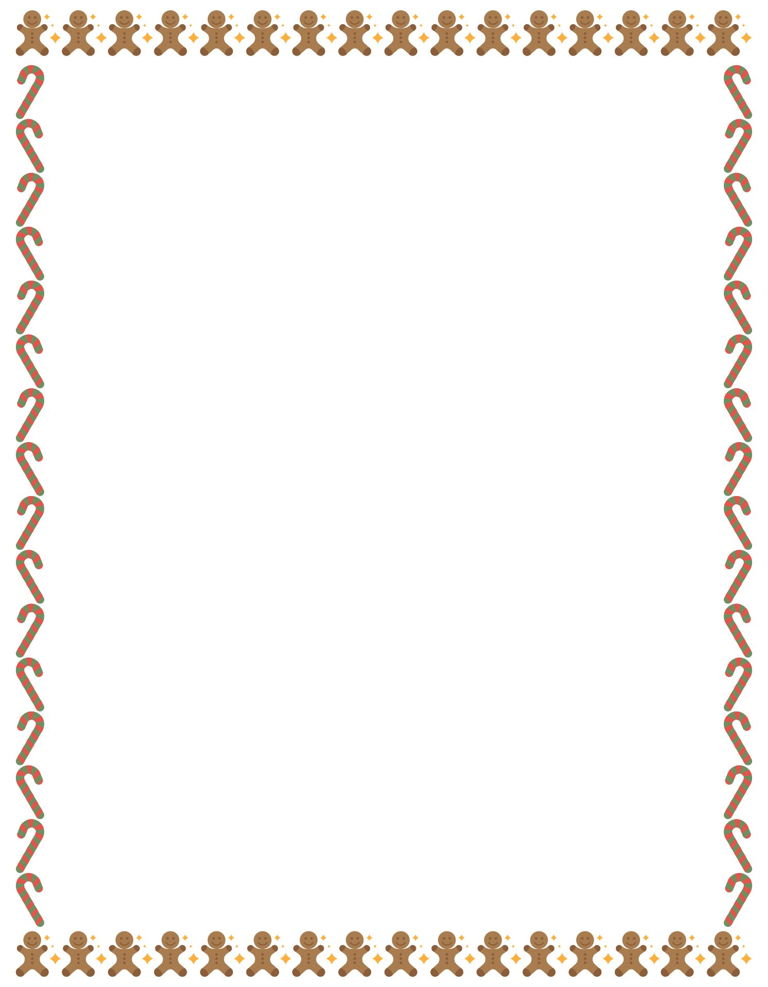7 Images of Free Printable Christmas Border Designs