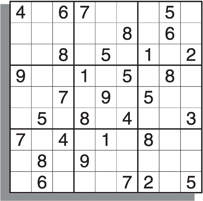 Free Medium Printable Sudoku Puzzles