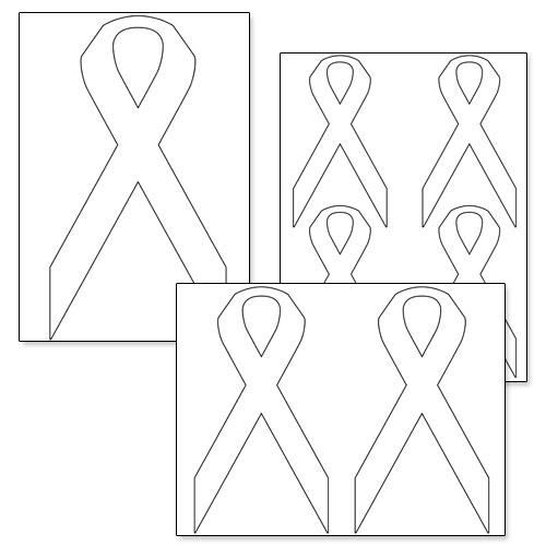 6 Images of Awareness Ribbon Template Printable