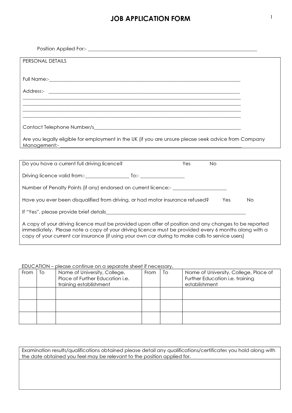 blank job application printable printable job application forms search amp apply online