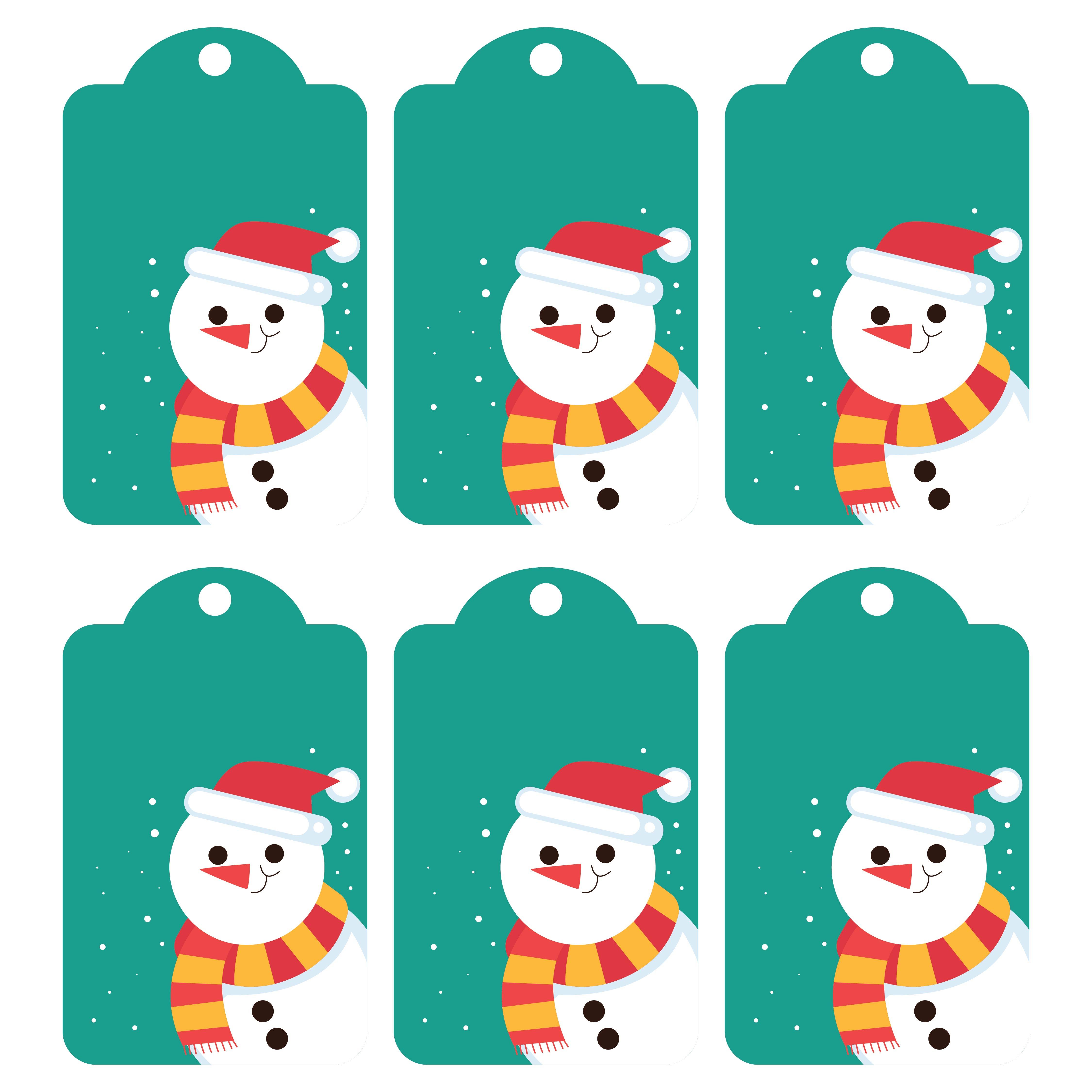 Printable Christmas Gift Tags Snowman