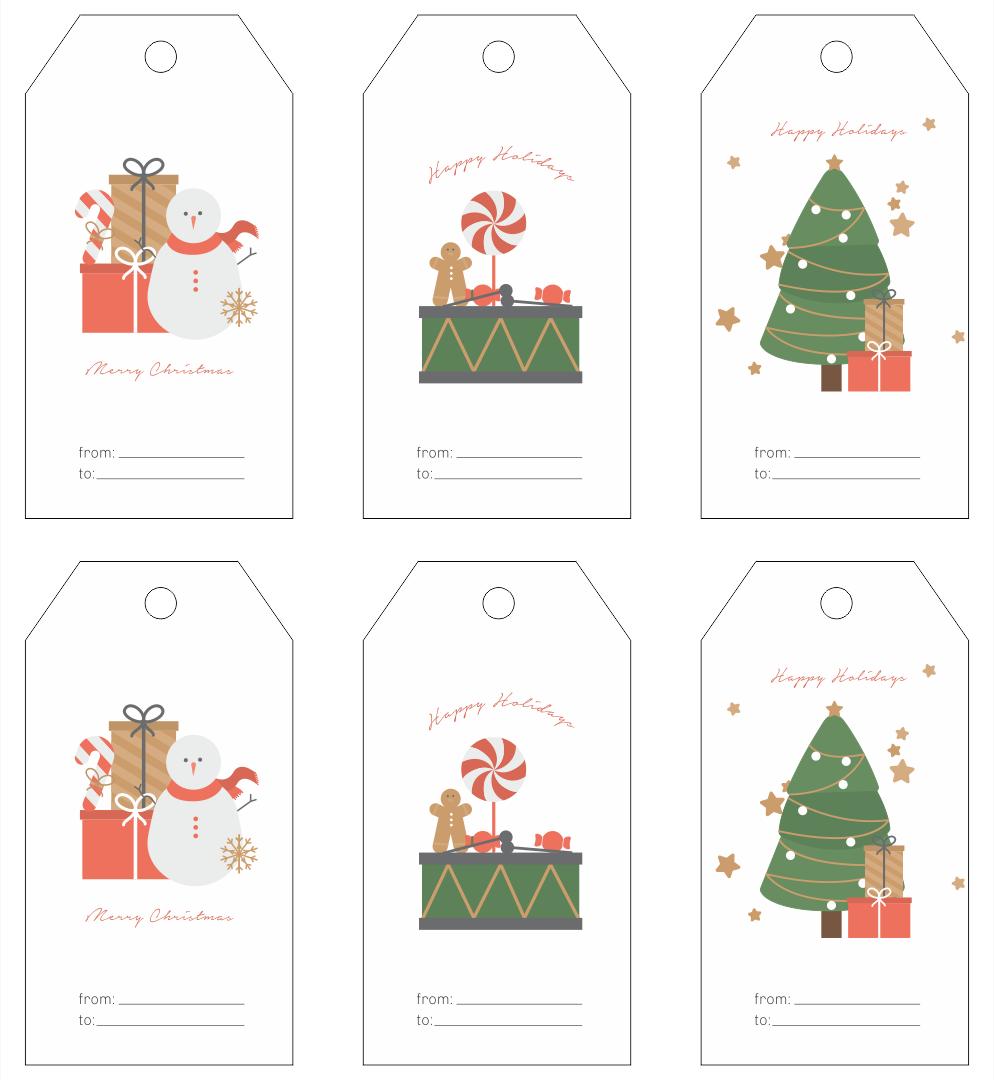 7 Images of Printable Christmas Tags