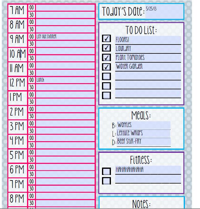 5 Images of Free Printable Daily Routine Schedules