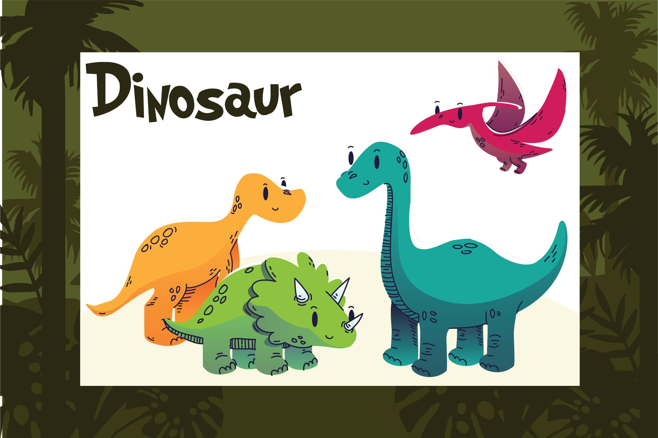 6 Images of Printable Dinosaur Clip Art