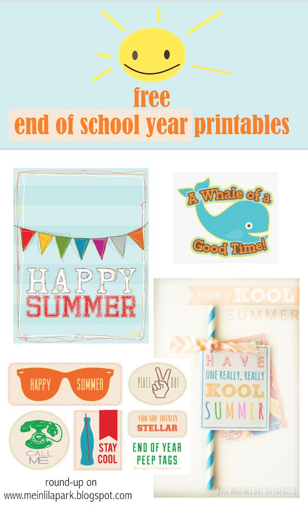 4 Images of Happy Summer Tags Printable Free