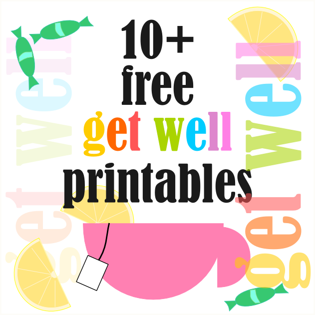5 Images of Get Well Soon Free Printables