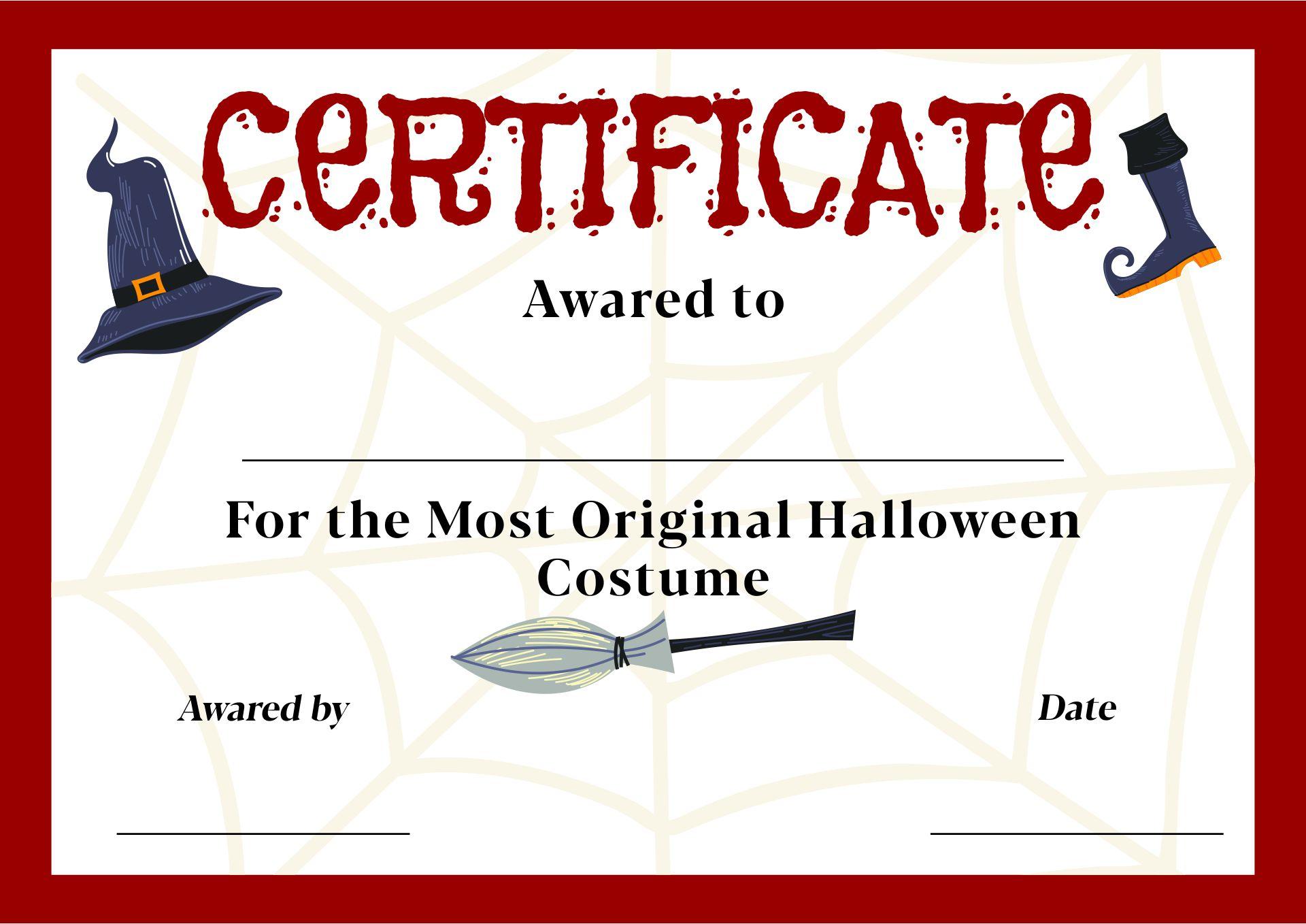 Printable Halloween Award Certificates