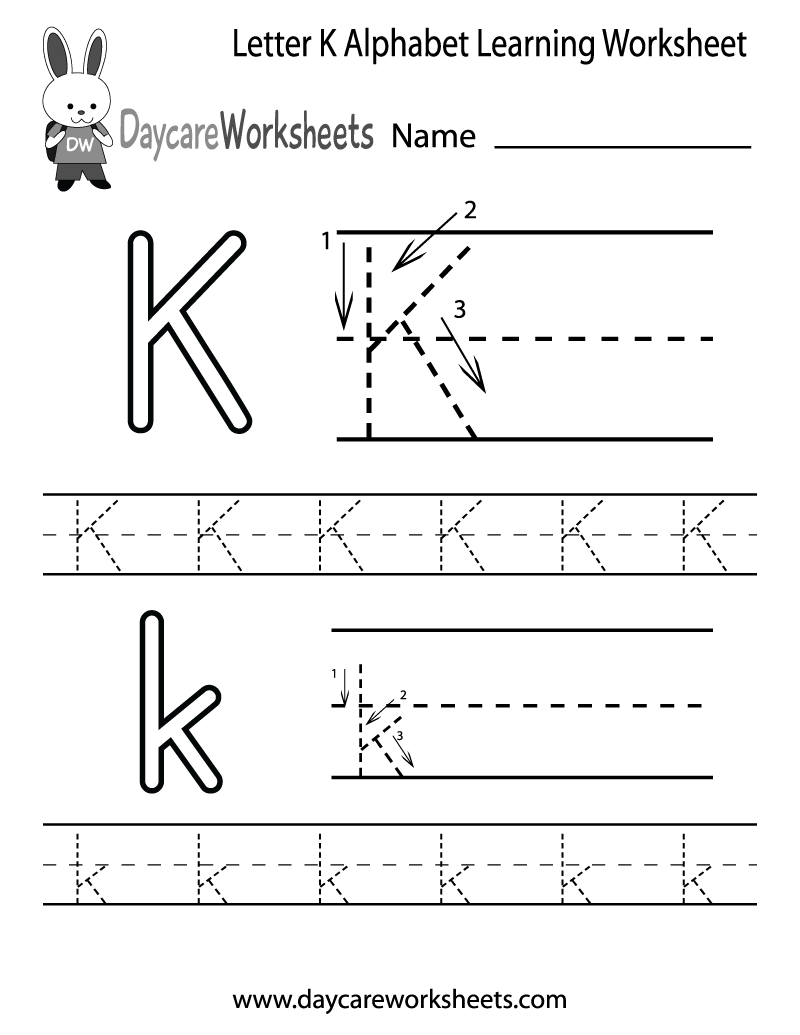 6 Images of K Pre Printable Alphabet Letters