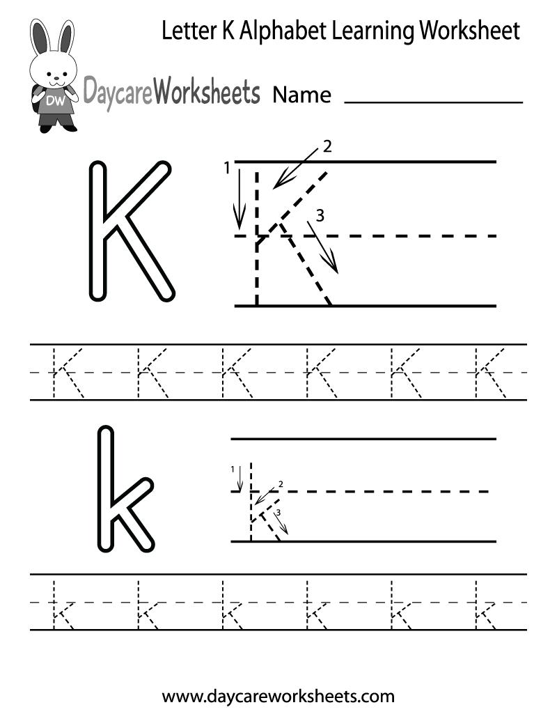 6 Images of Printable Preschool Worksheets Letter K