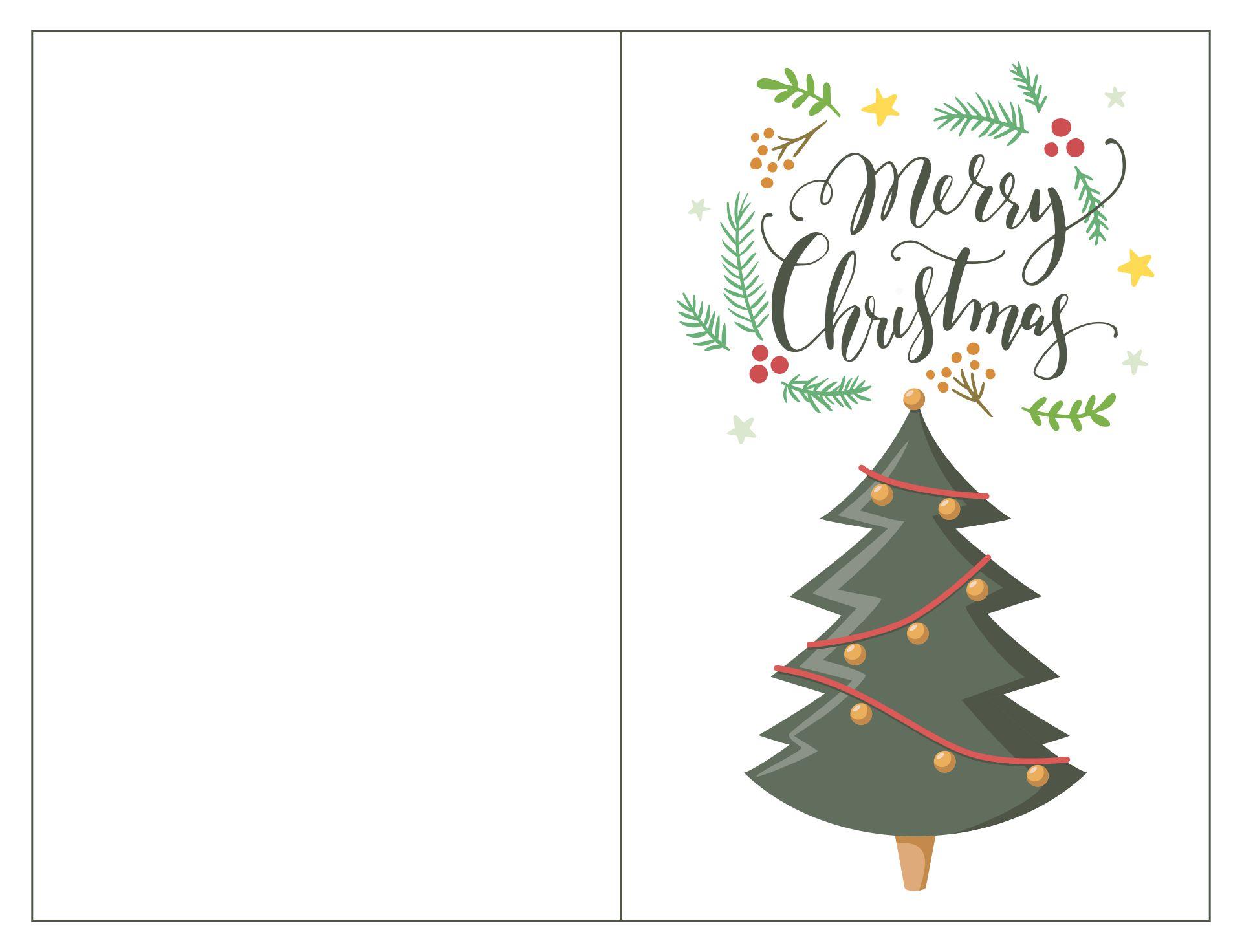 Printable Merry Christmas Card