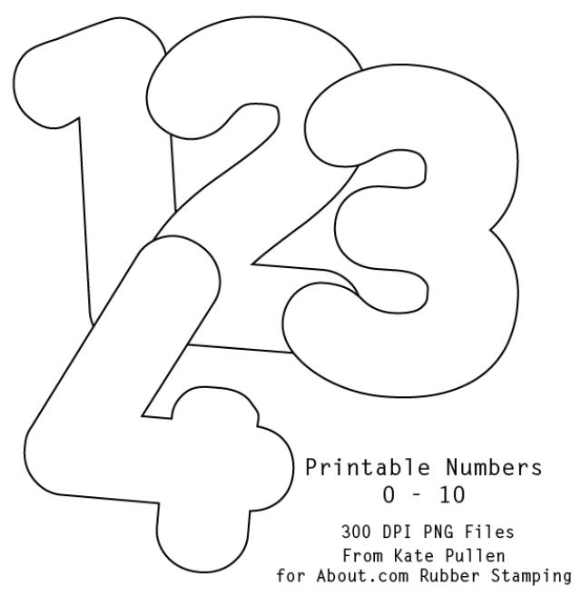 4 Images of Free Printable Numbers 0 9