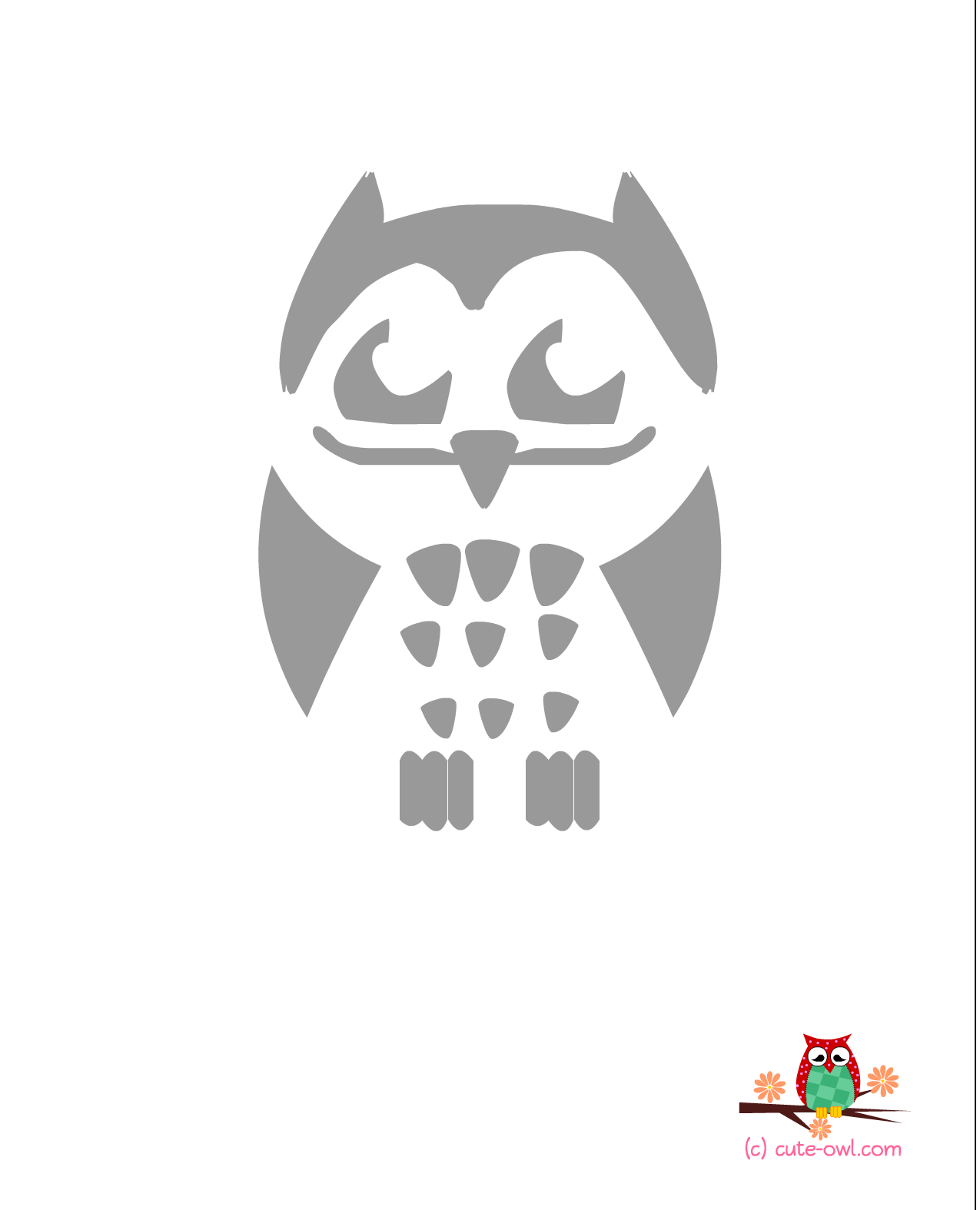 6 Images of Free Cute Printable Owl Stencils