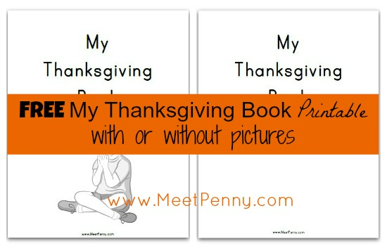 4 Images of My Thanksgiving Book Printable