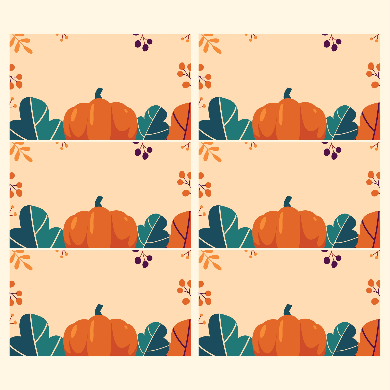 Printable Thanksgiving Name Tags Templates