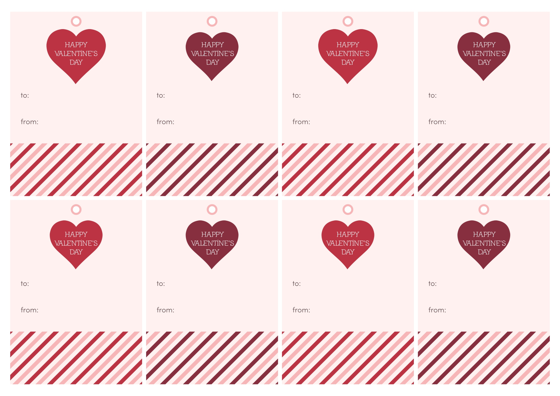 7 Images of Printable Animal Valentine's Gift Tags