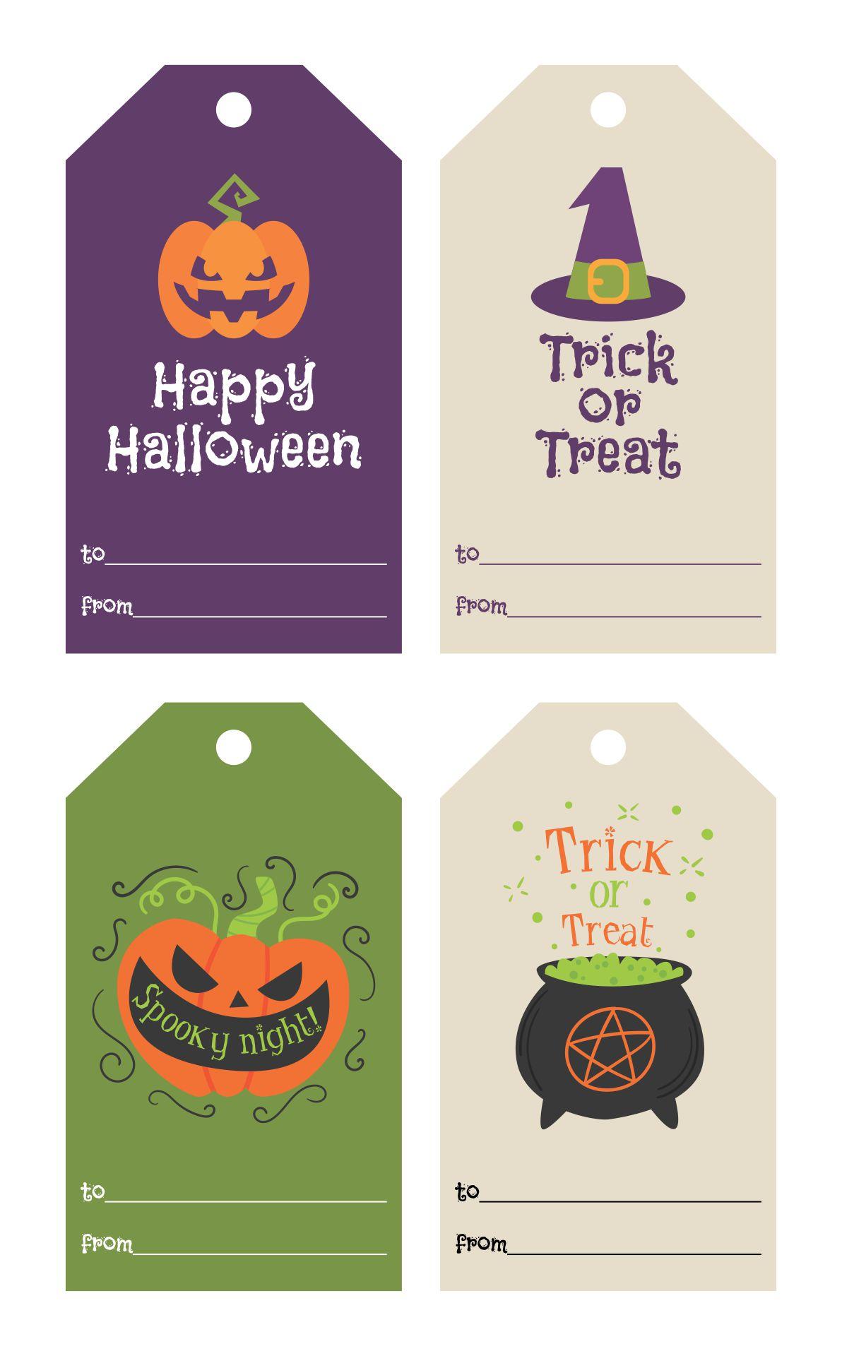 Printable Vintage Halloween Gift Tags