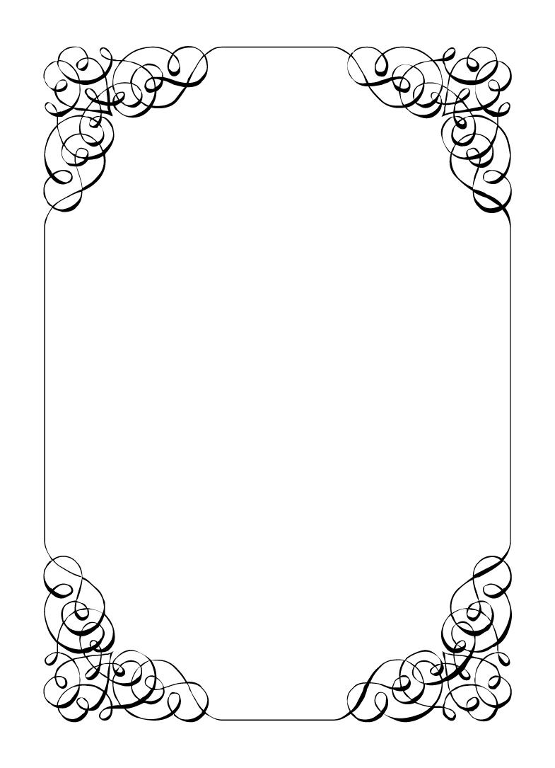 ... Borders Template & Free Printable Wedding Invitation Templates