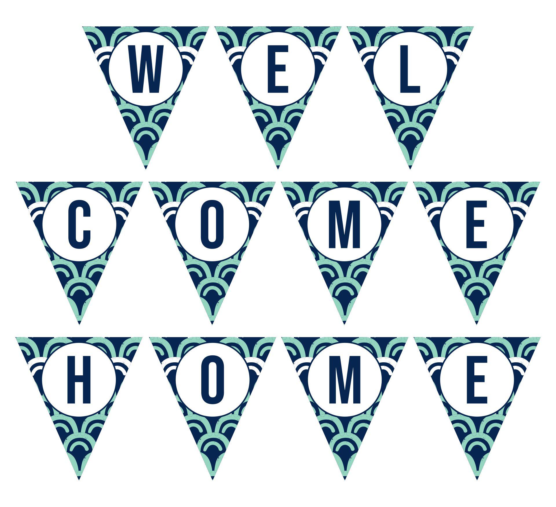 Printable Welcome Home Banner