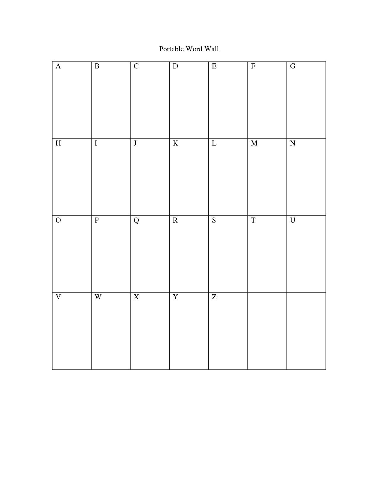 Free Printable Word Wall Templates