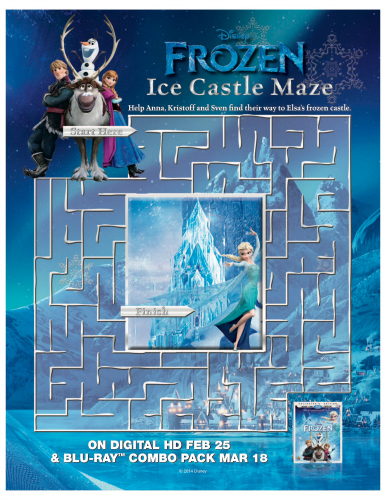 8 Images of Frozen Free Printable Maze