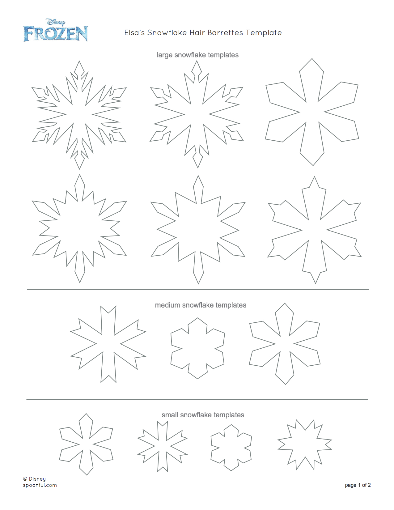 7 Images of Elsa Snowflake Stencil Printable