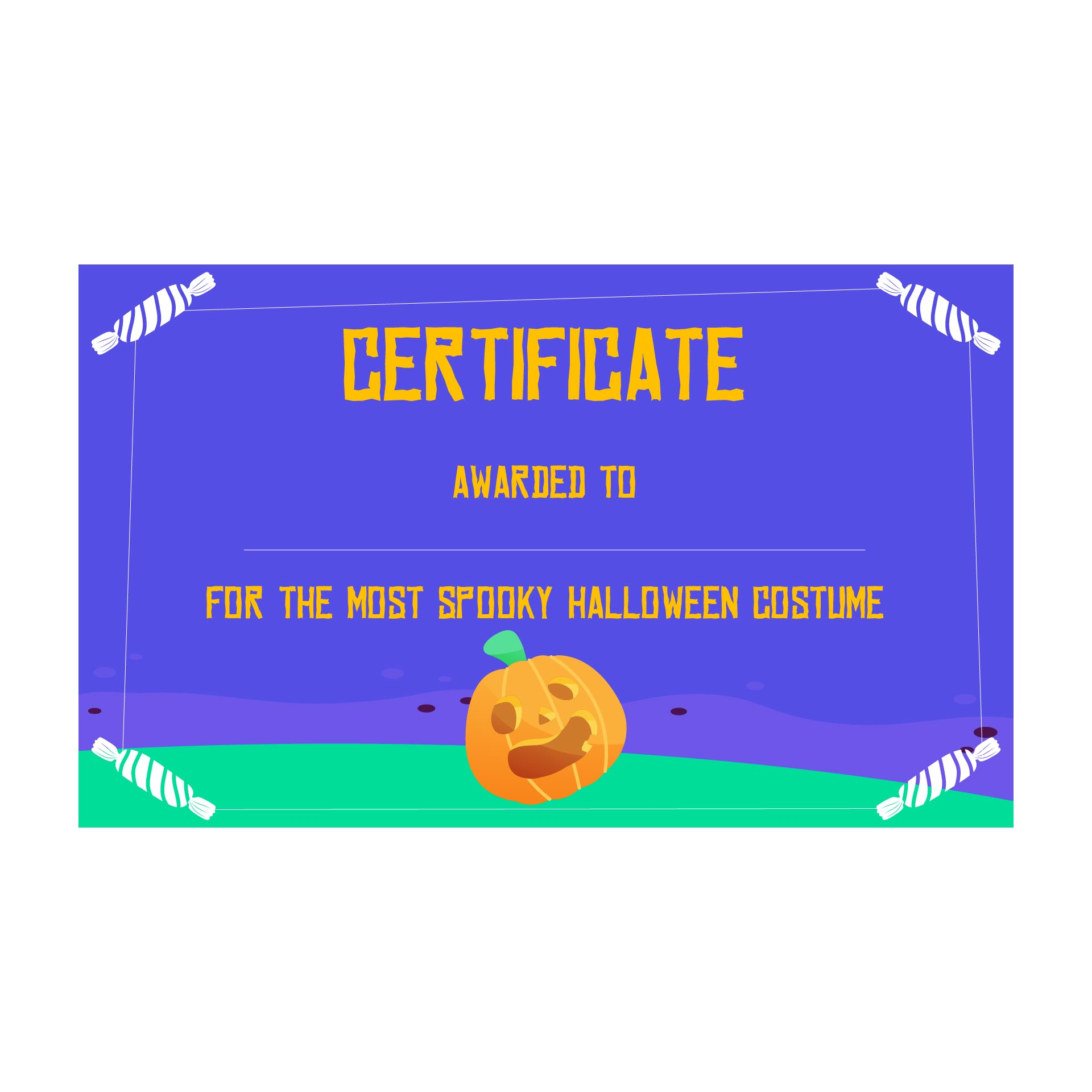 4 Images of Printable Award Certificates Halloween