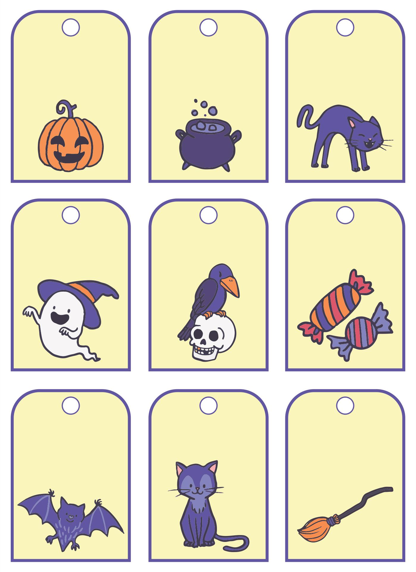 Halloween Printable Tags Templates