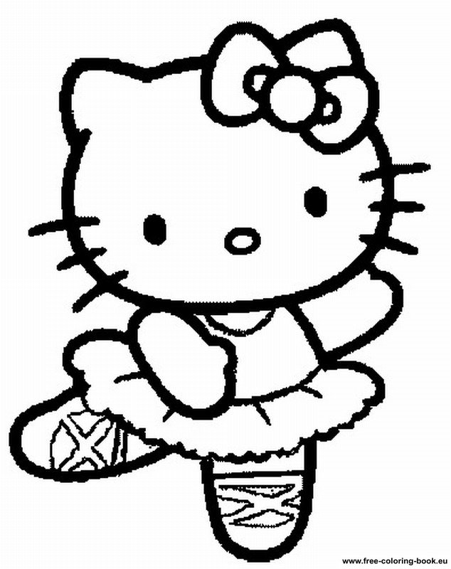 7 Images of Hello Kitty Printable Coloring Book
