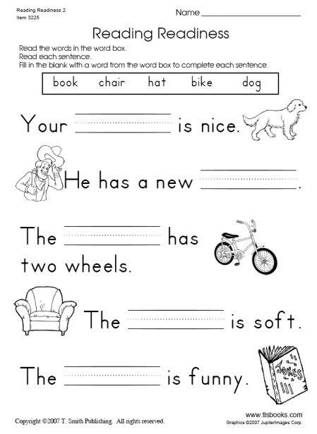 math worksheet : 5 best images of 1st grade printable reading books  1st grade  : Reading Comprehension Kindergarten Worksheets