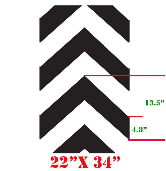Large Printable Chevron Pattern Stencil