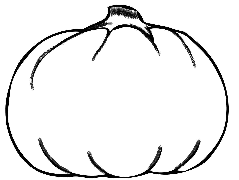 Large printable pumpkin stencil - pumpkin coloring pattern