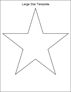 9 best images of printable star pattern for flag for Small star template printable free