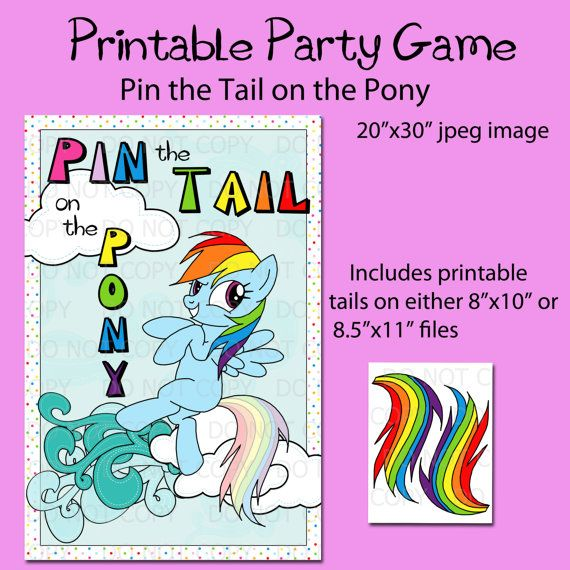 8 Images of Printable My Little Pony Games