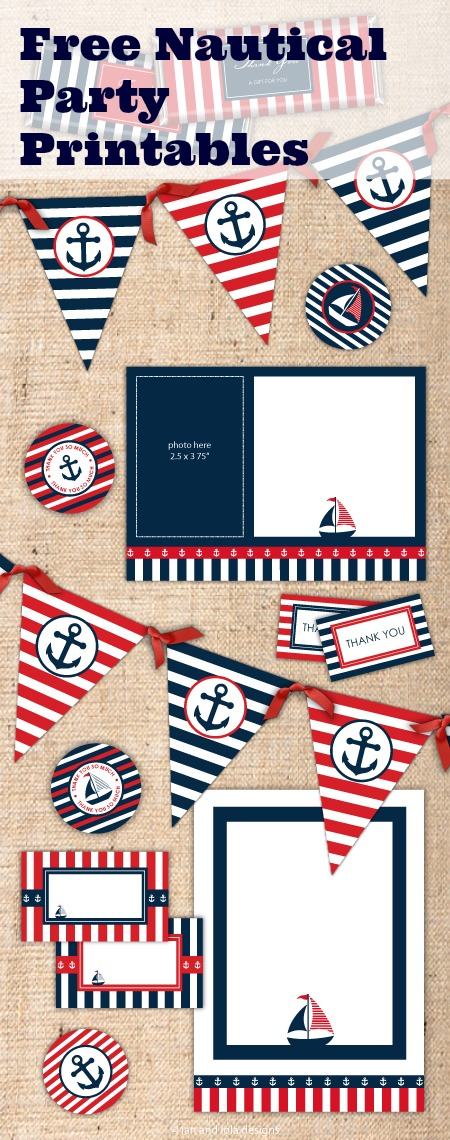 8 Images of Free Printable Nautical Theme Party