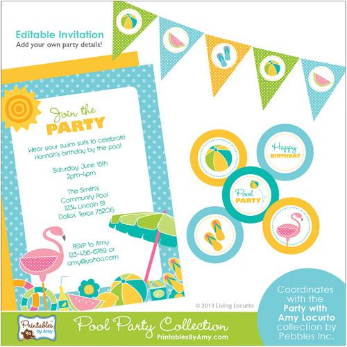 Pool Party Free Printables
