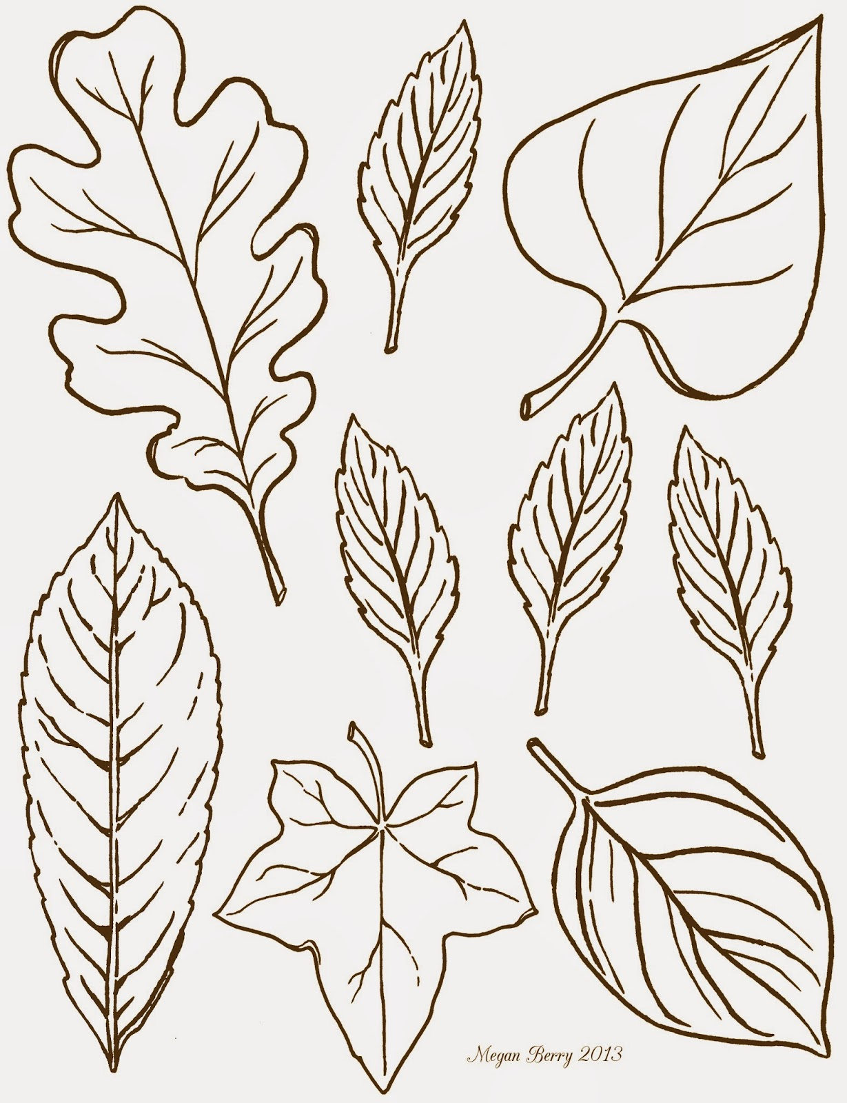 5 Images of Fall Leaves Clip Art Free Printable