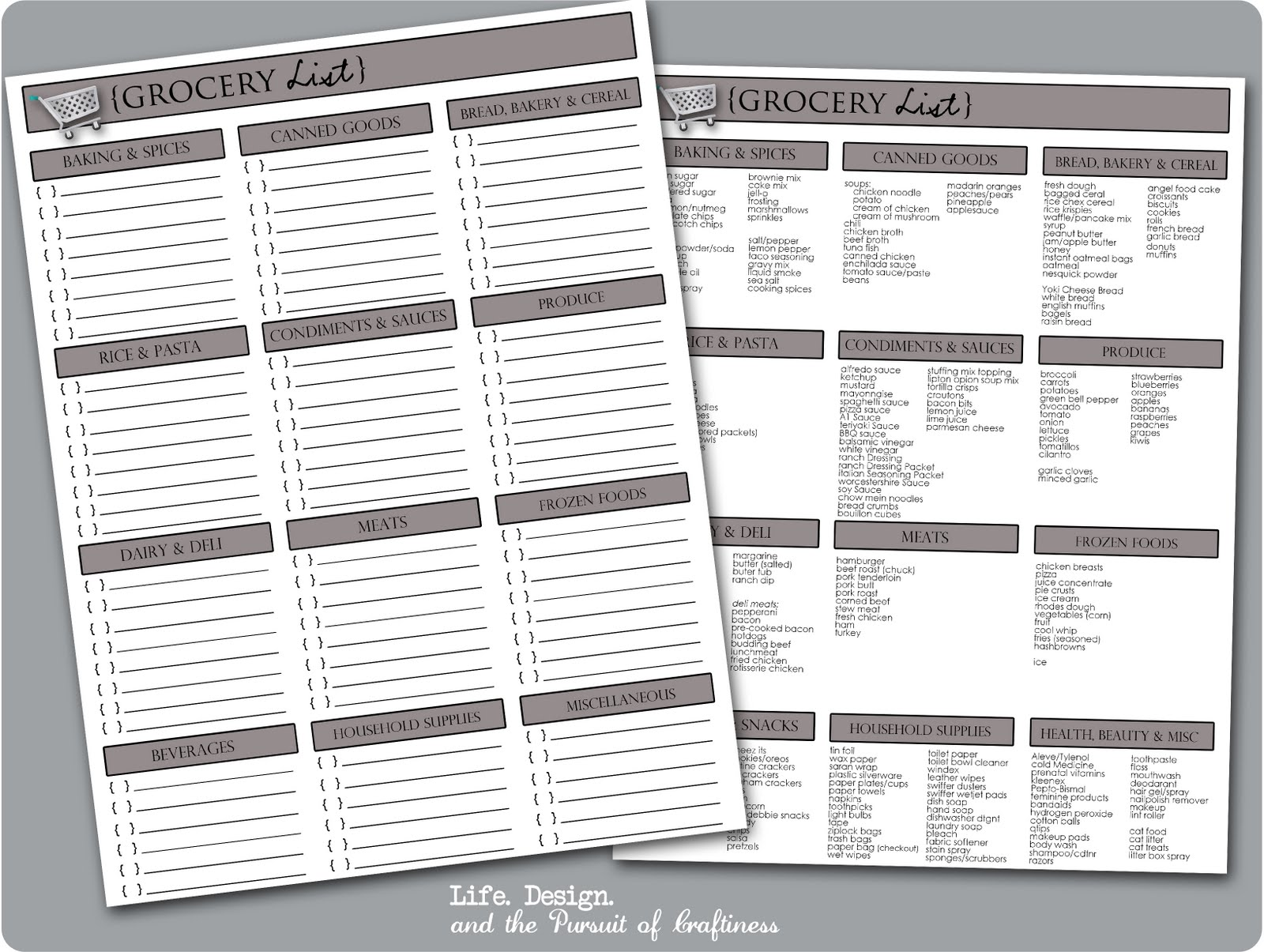 5 Images of Printable Blank Grocery List