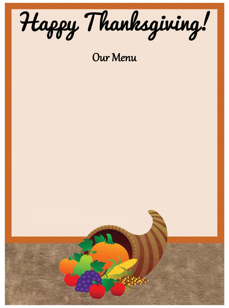 Thanksgiving Menu Template Word Free effective meeting agenda – Menu Template Word Free