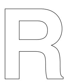 8 Best Images Of Printable Block Letter R Large