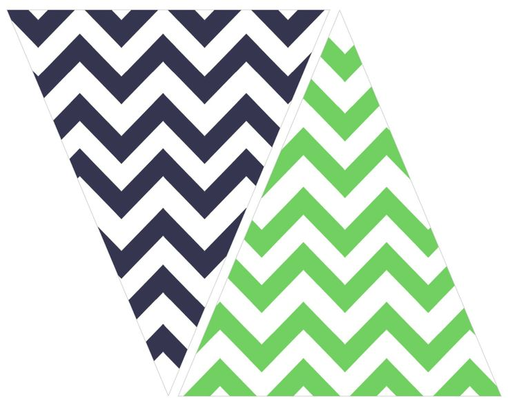 5 Images of Free Printable Pennant Banner Chevron