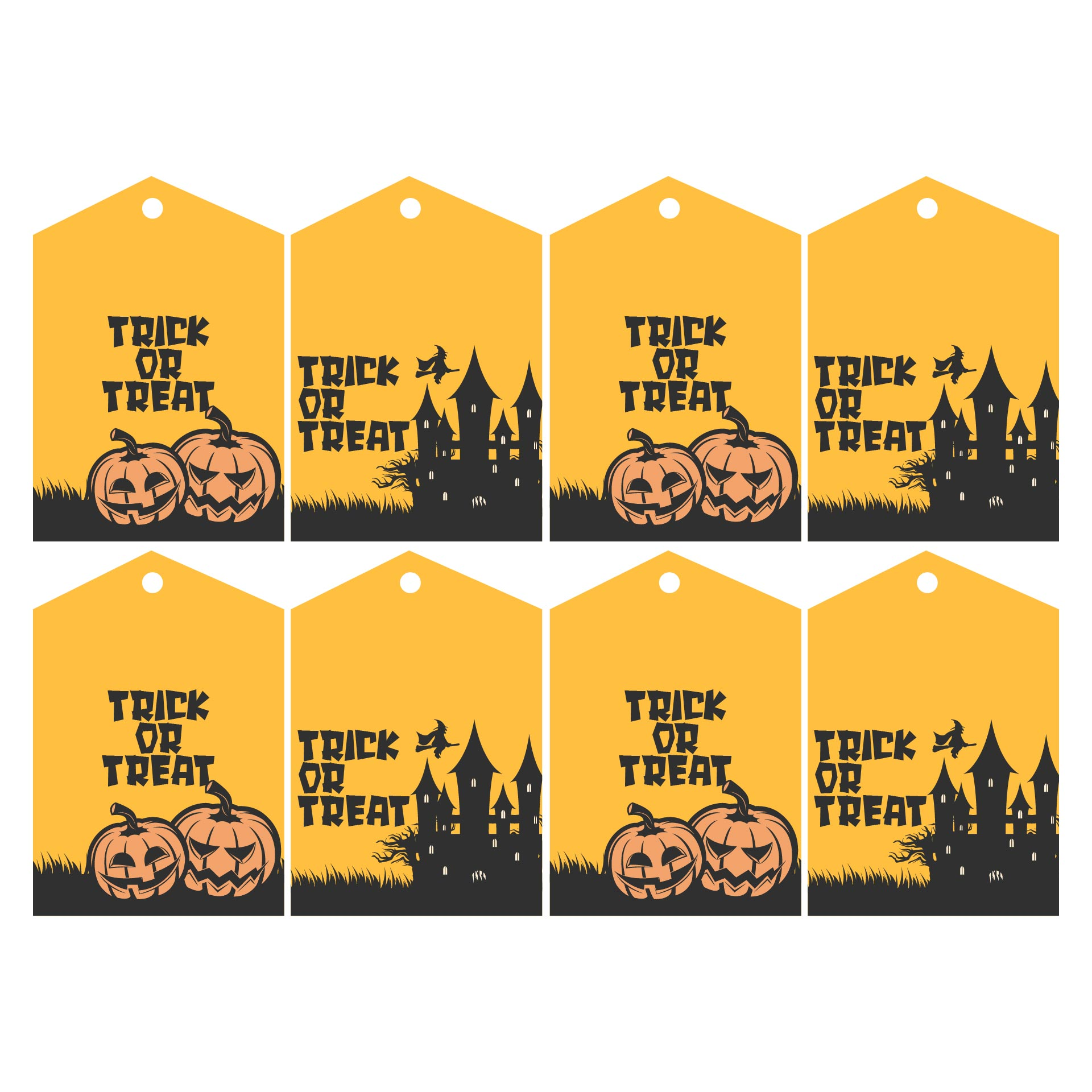 5 Images of Free Printable Halloween Gift Bag Tags